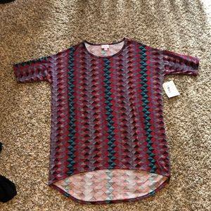 LulaRoe Irma tunic flowy cute spring pattern top